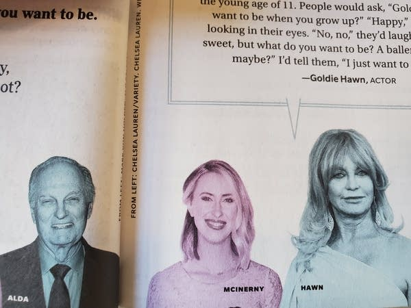 Nora McInerny in Reader's Digest, between Alan Alda and Goldie Hawn