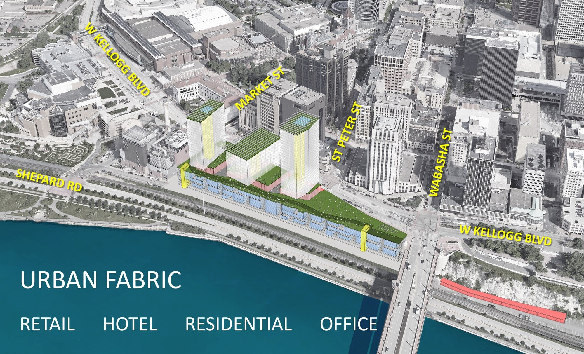 Rendering of the development proposed by Cardon Development