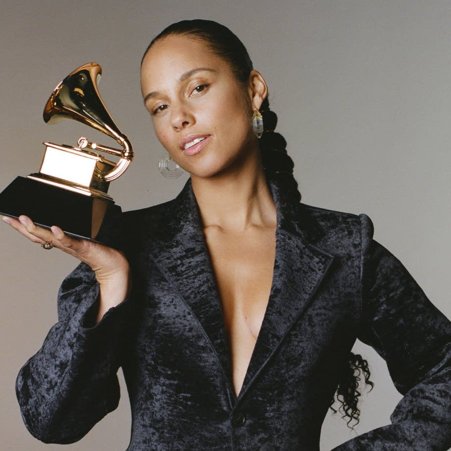 Alicia Keys, host of the 61st Annual Grammy Awards.