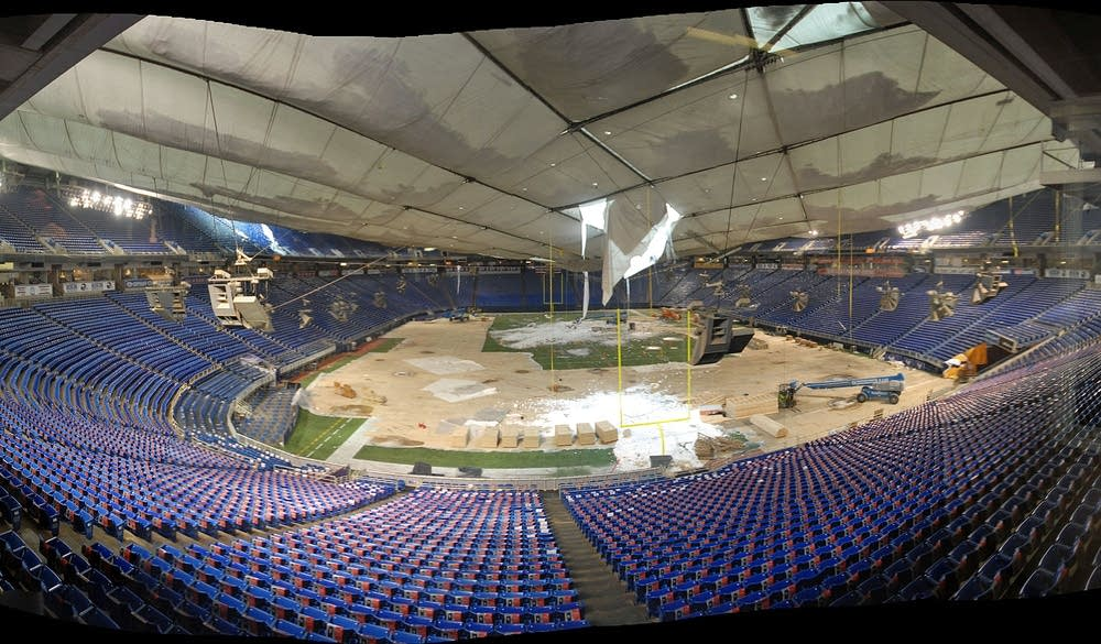 New damage at the dome