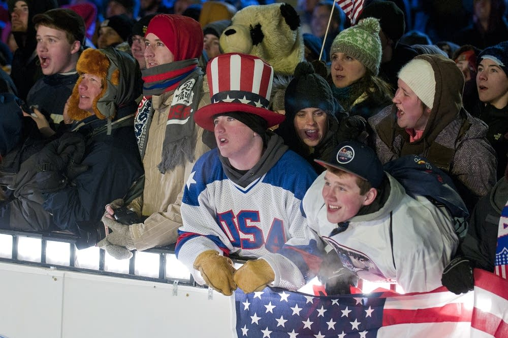 Crashed Ice fans watch the final heat