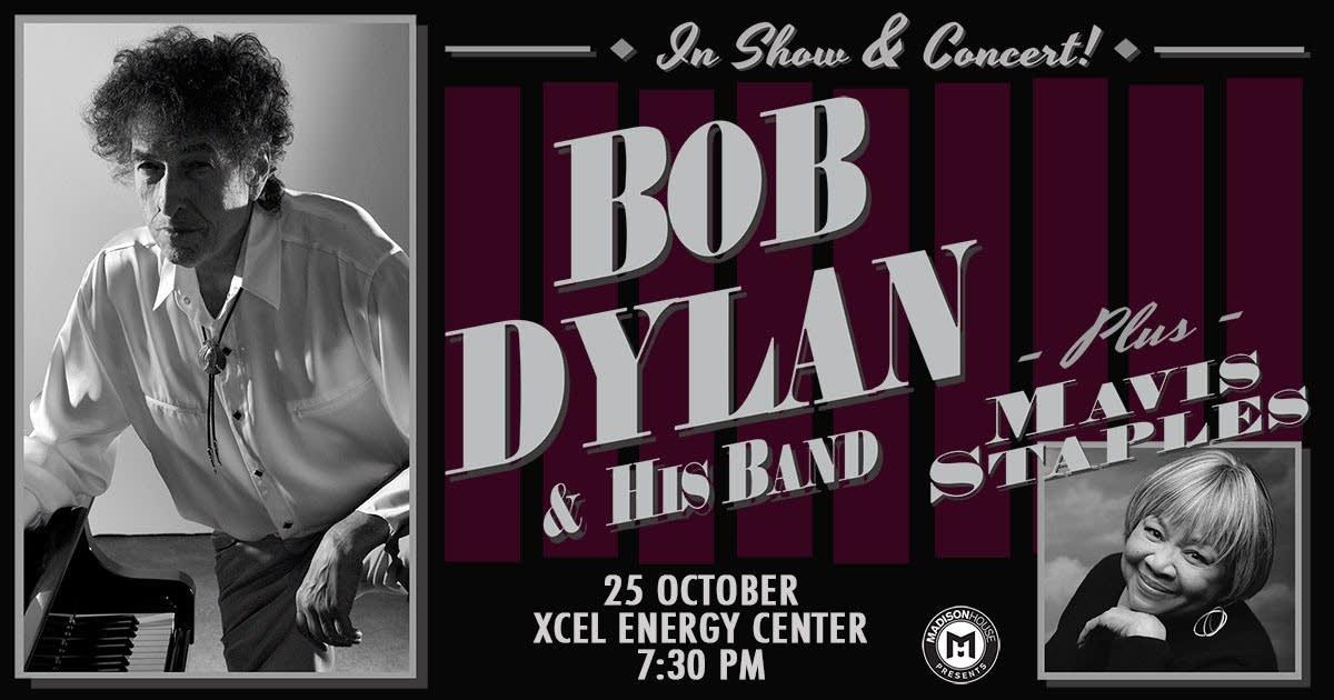 Bob Dylan Xcel Energy Center Mavis Staples