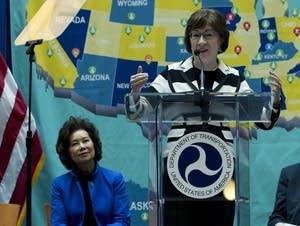 Sen. Susan Collins, Transportation Secretary Elaine Chao