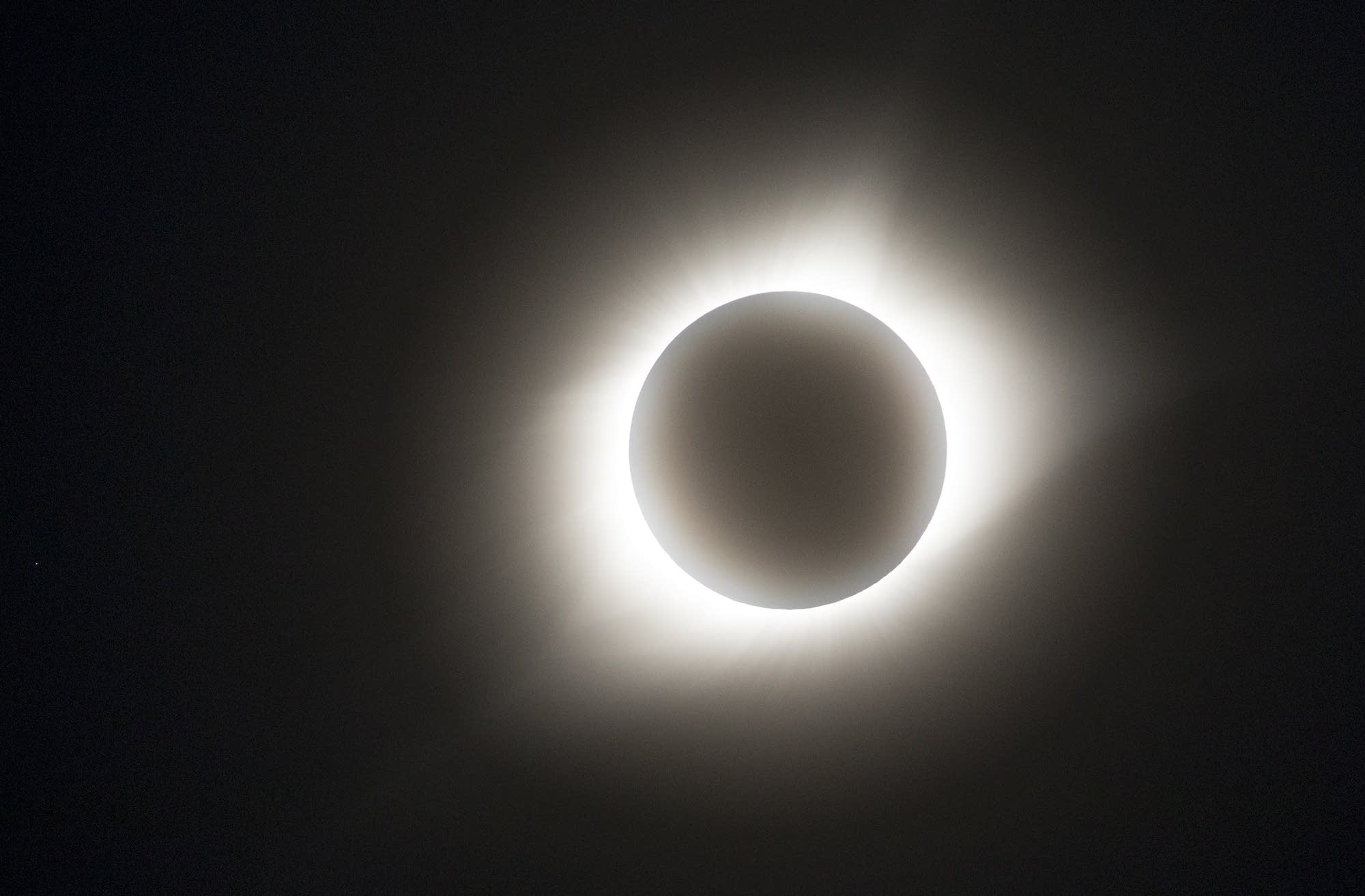 The total solar eclipse seen from Pawnee City, Nebraska.