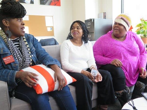 Ayolanda Evans, Kenya McKnight and Charisma Smith talk about gun violence.
