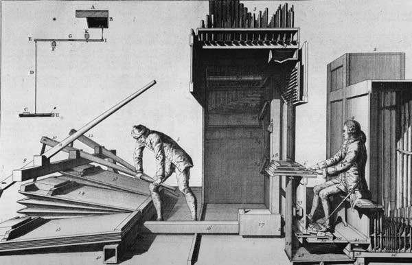 organist and bellows illustration
