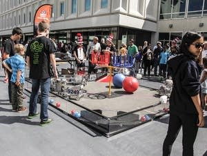 Students and guests were welcome to participate in FIRST Robotics.