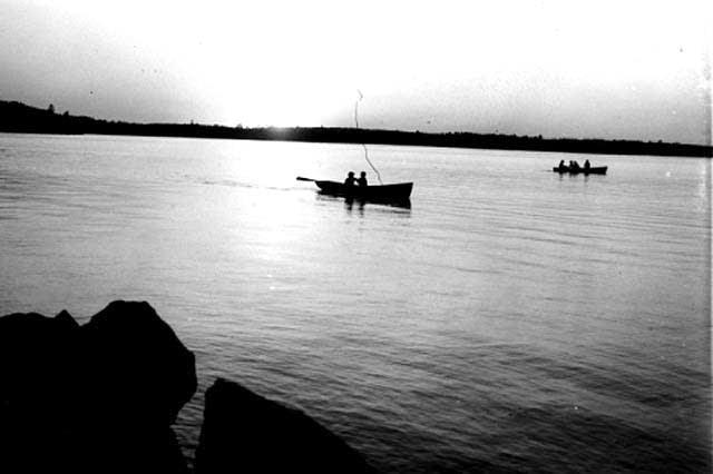 Evening scene on Lake Kabetogama, 1933.