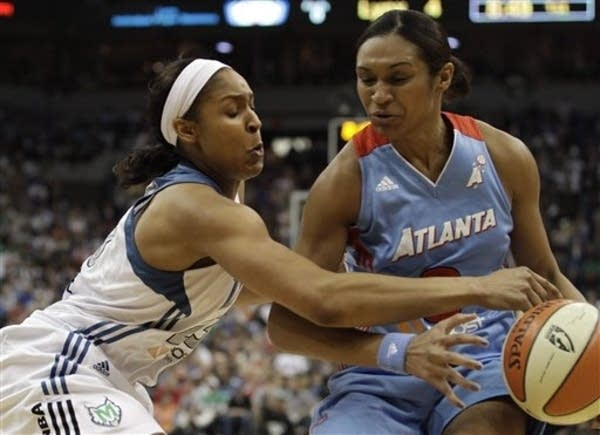 Maya Moore on defense