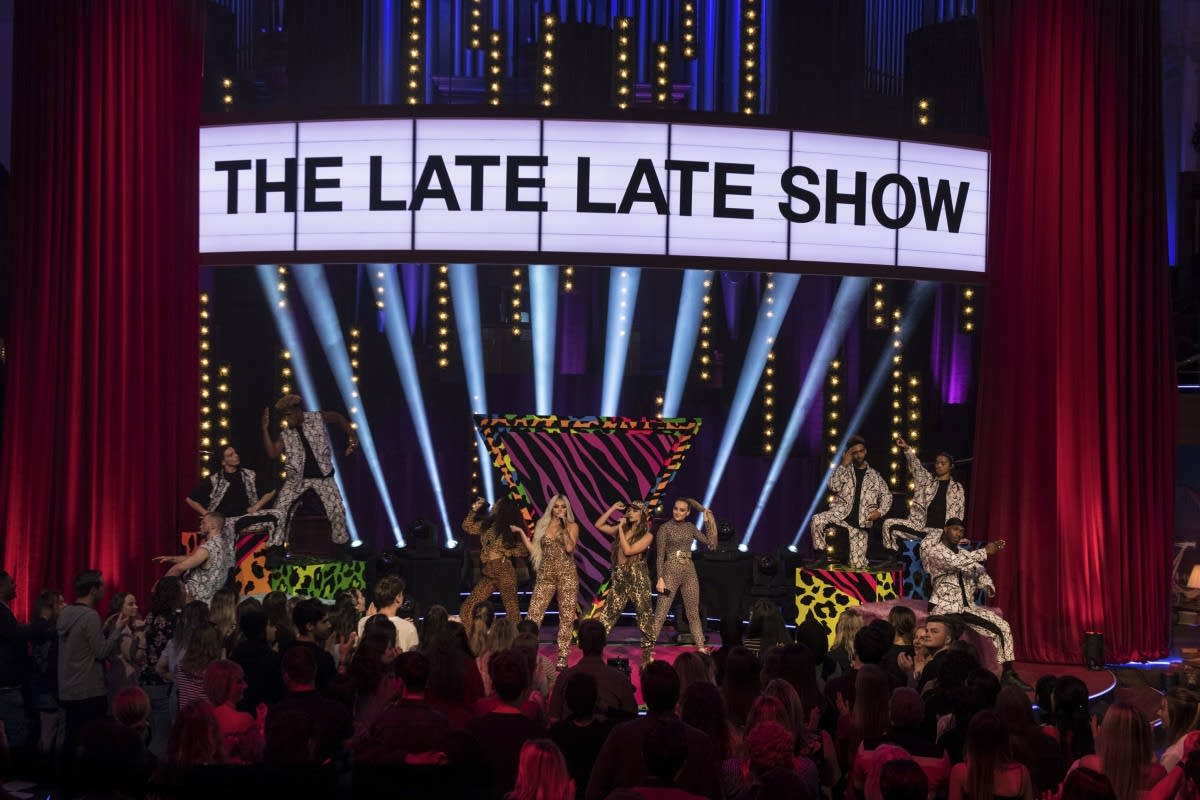 Little Mix performing on 'The Late Late Show with James Corden'
