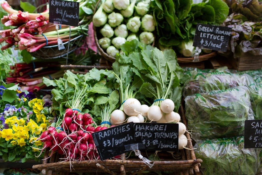 Fresh vegetables from Loon Organics