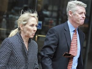 Elisabeth Kimmel leaves courthouse after a hearing on admissions scandal.