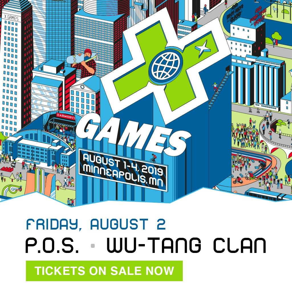 P.O.S and WU TANG CLAN - X GAMES 2019