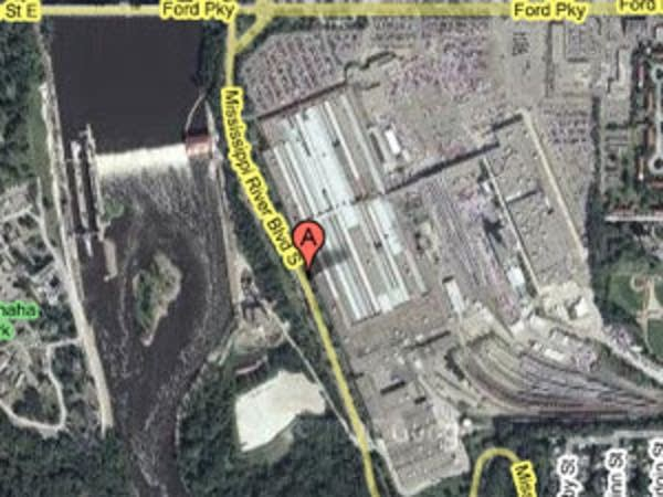 Aerial view of the Ford plant