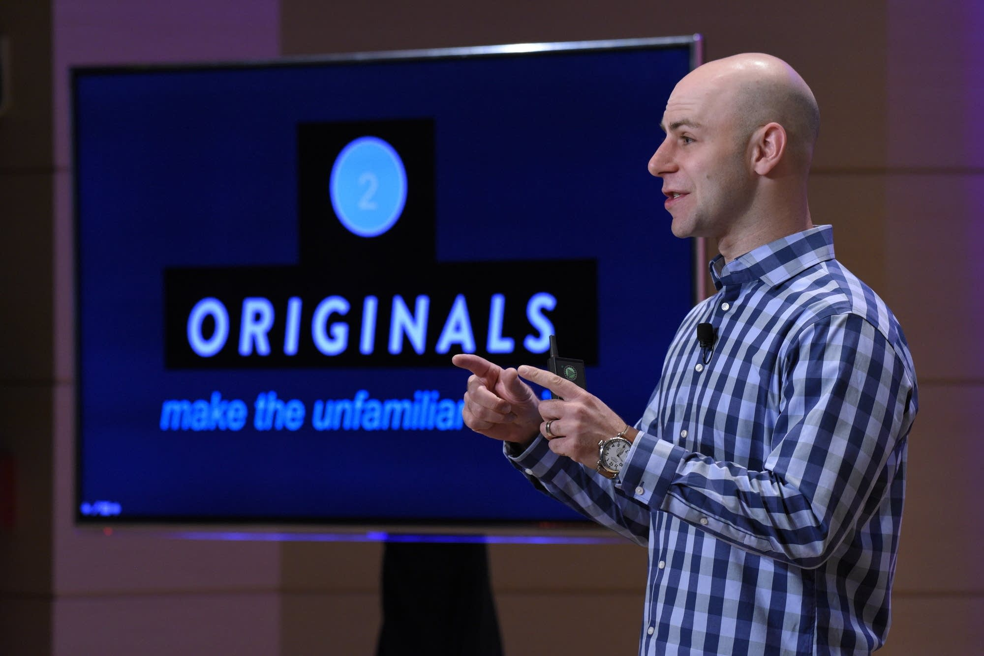 Adam Grant speaks at the Aspen Ideas Festival (from MPRNews)