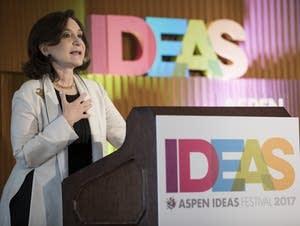 Social studies professor Sherry Turkle at the Aspen Ideas Festival.