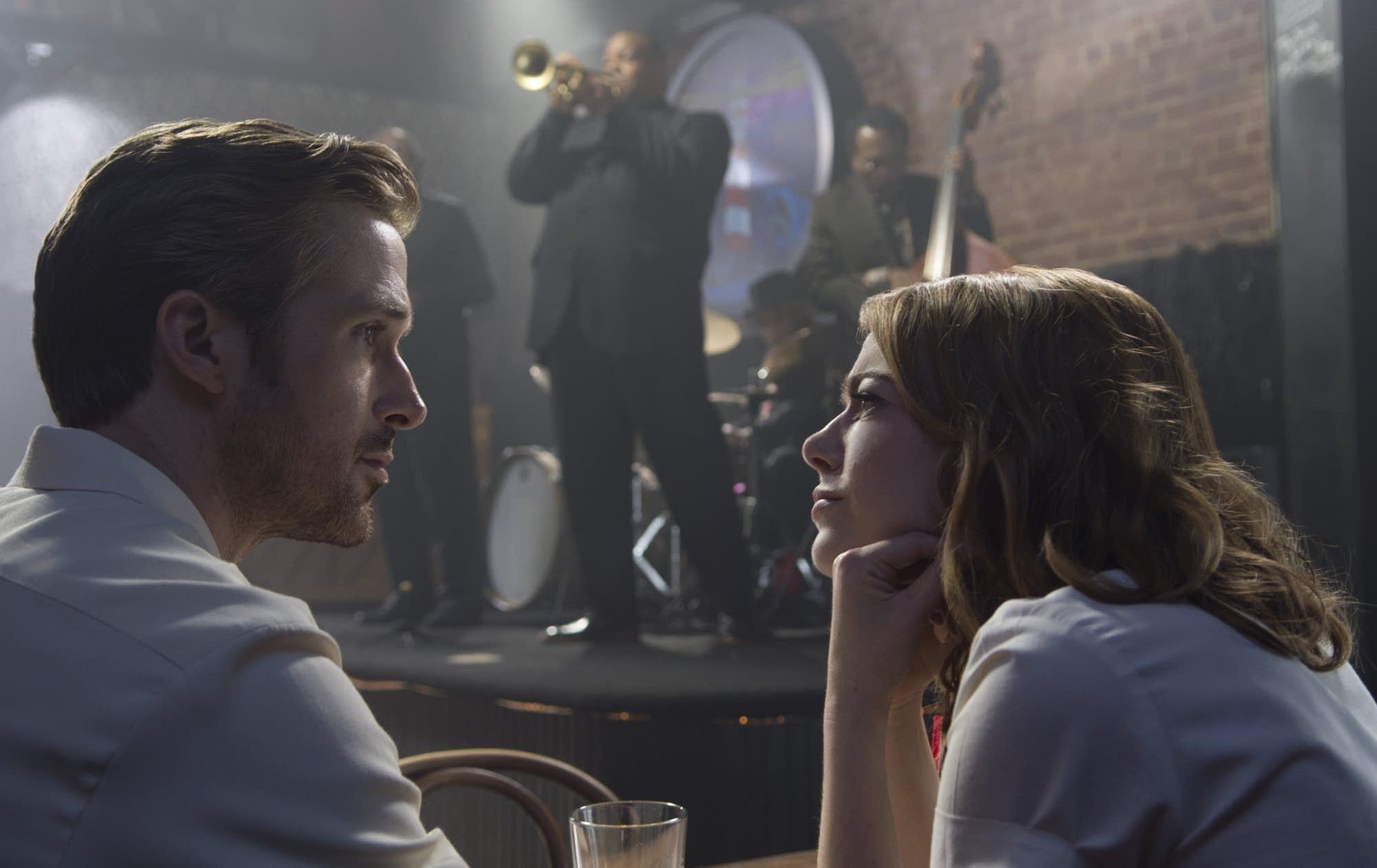 Sebastian (Ryan Gosling) and Mia (Emma Stone) in 'La La Land.'