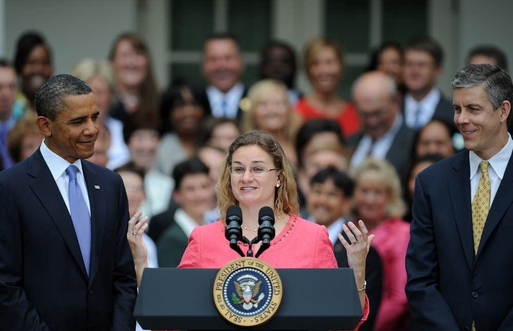 U.S. teacher of the year speaking at White House