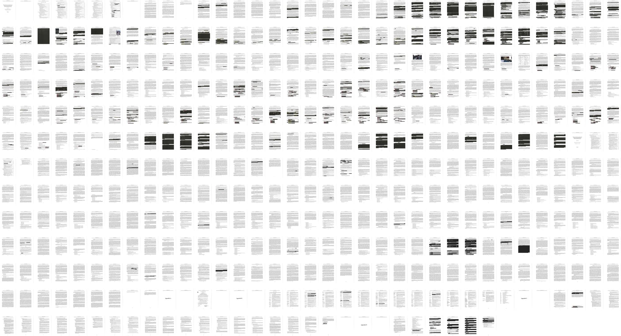 The entire redacted report by special counsel Robert Mueller