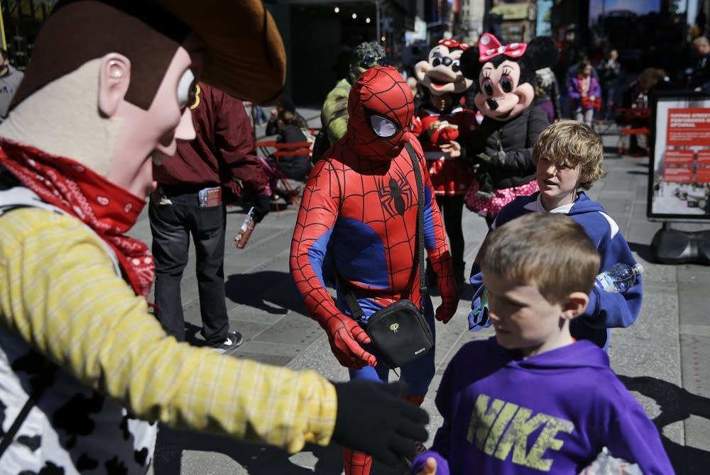 Costumed characters of Times Square
