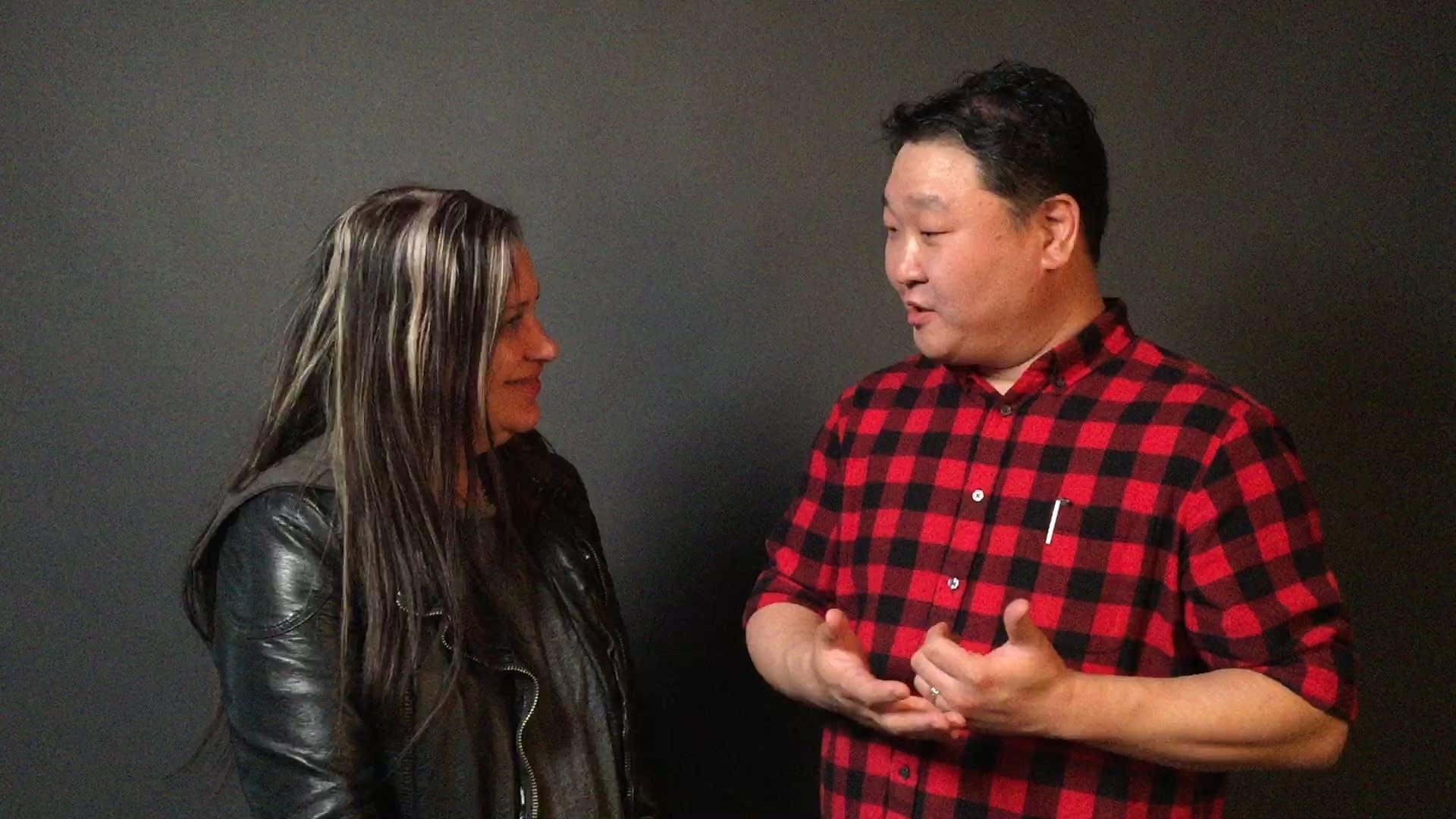 Mary Lucia talks with Sam Choo