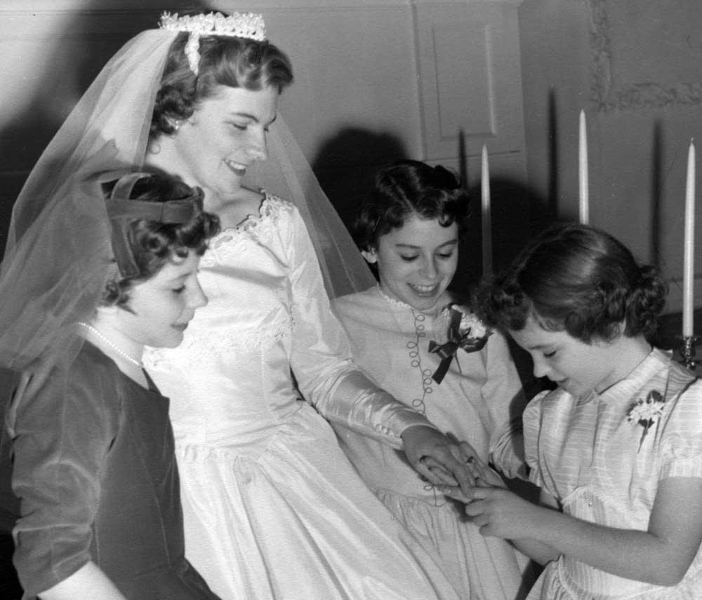 The Meyers sisters at Barbara's wedding