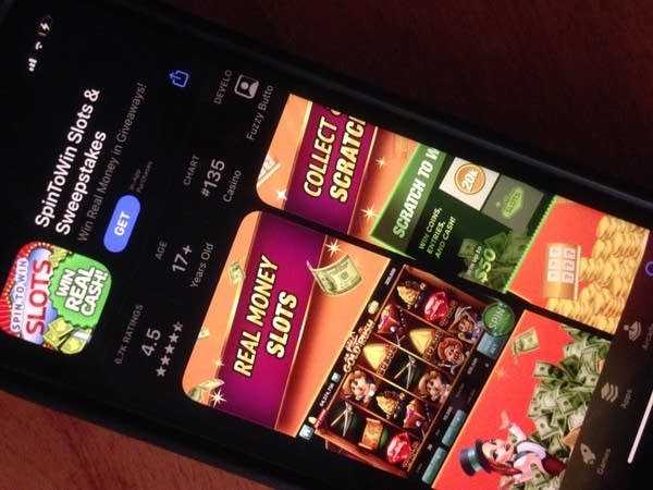 cell phone displaying a gambling app