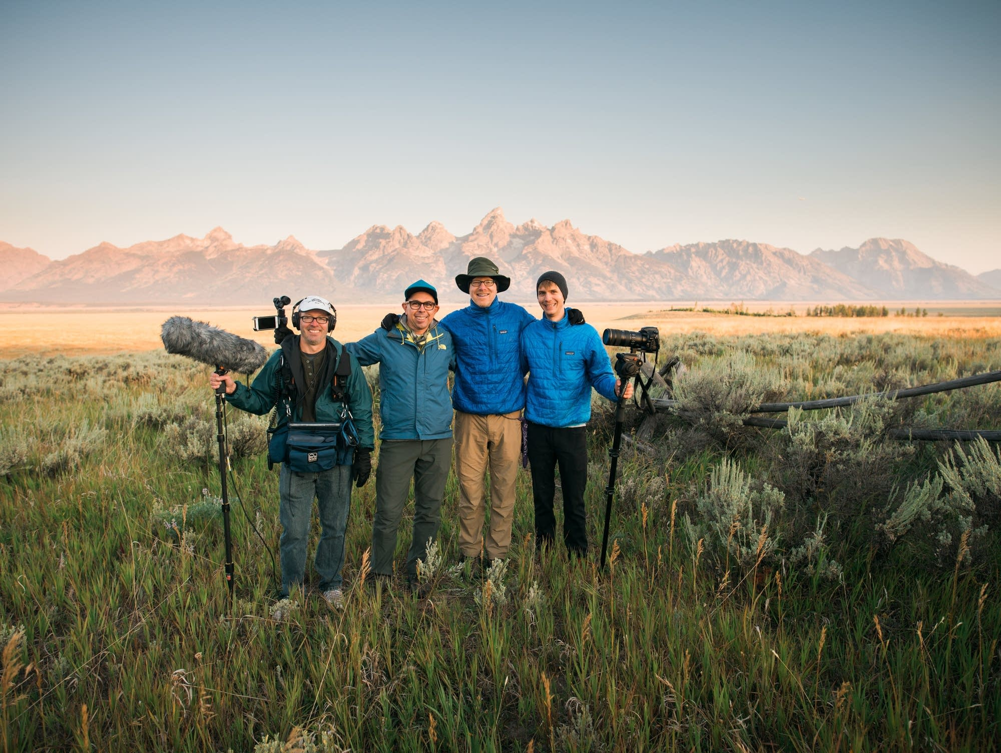 Sunrise in the Tetons with the PT crew