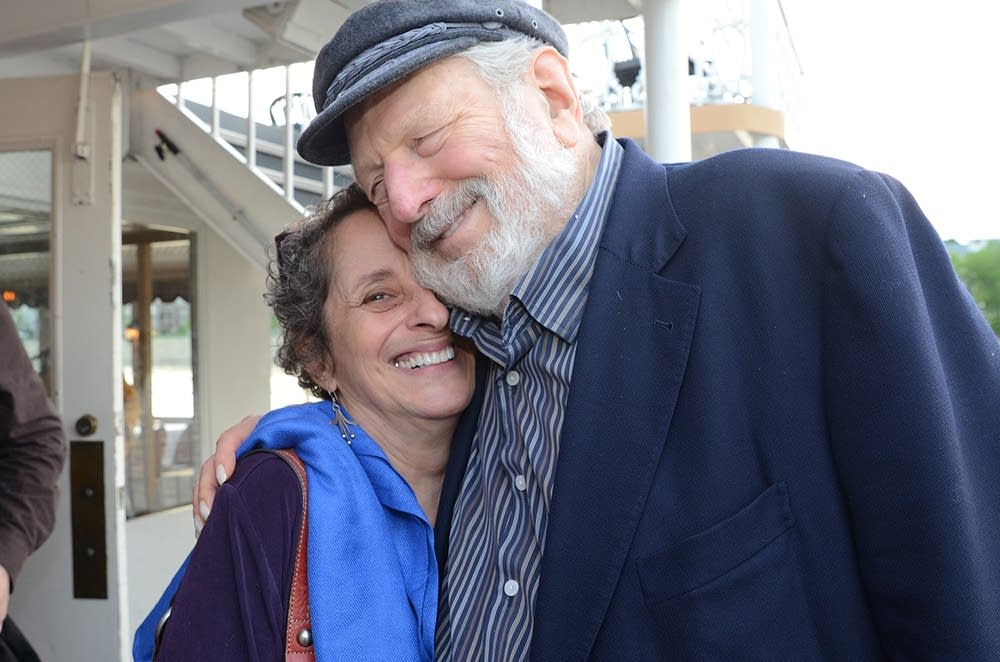 Mindy Ratner and Theodore Bikel
