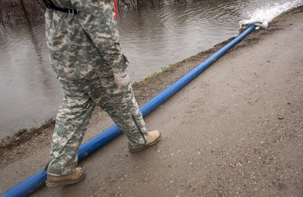 Minnesota Army National Guard on patrol