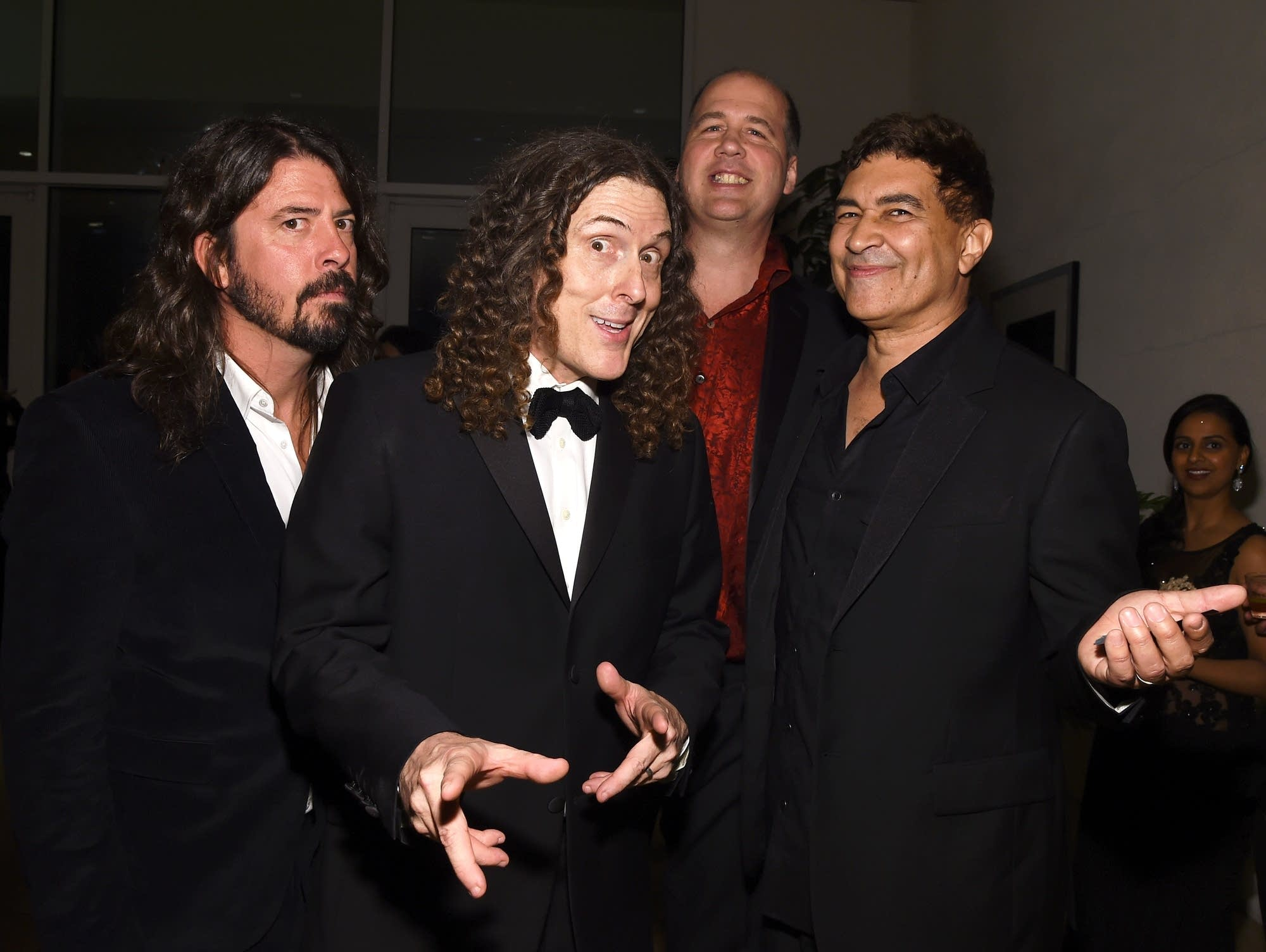 Dave Grohl, 'Weird Al' Yankovic, Krist Novoselic, and Pat Smear.