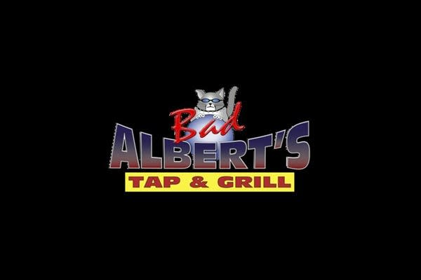 The logo for Bad Albert's, one of Andrew's favorite Ballard bars