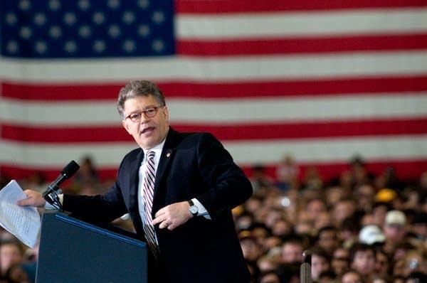 Al Franken at a 2010 rally