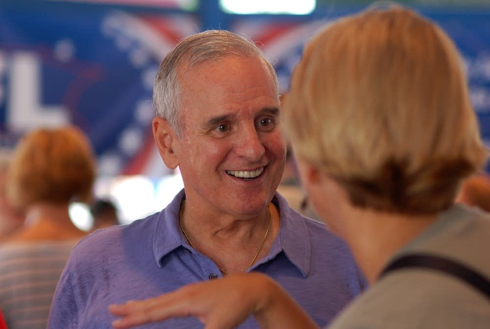 Gov. Dayton at opening day of the State Fair