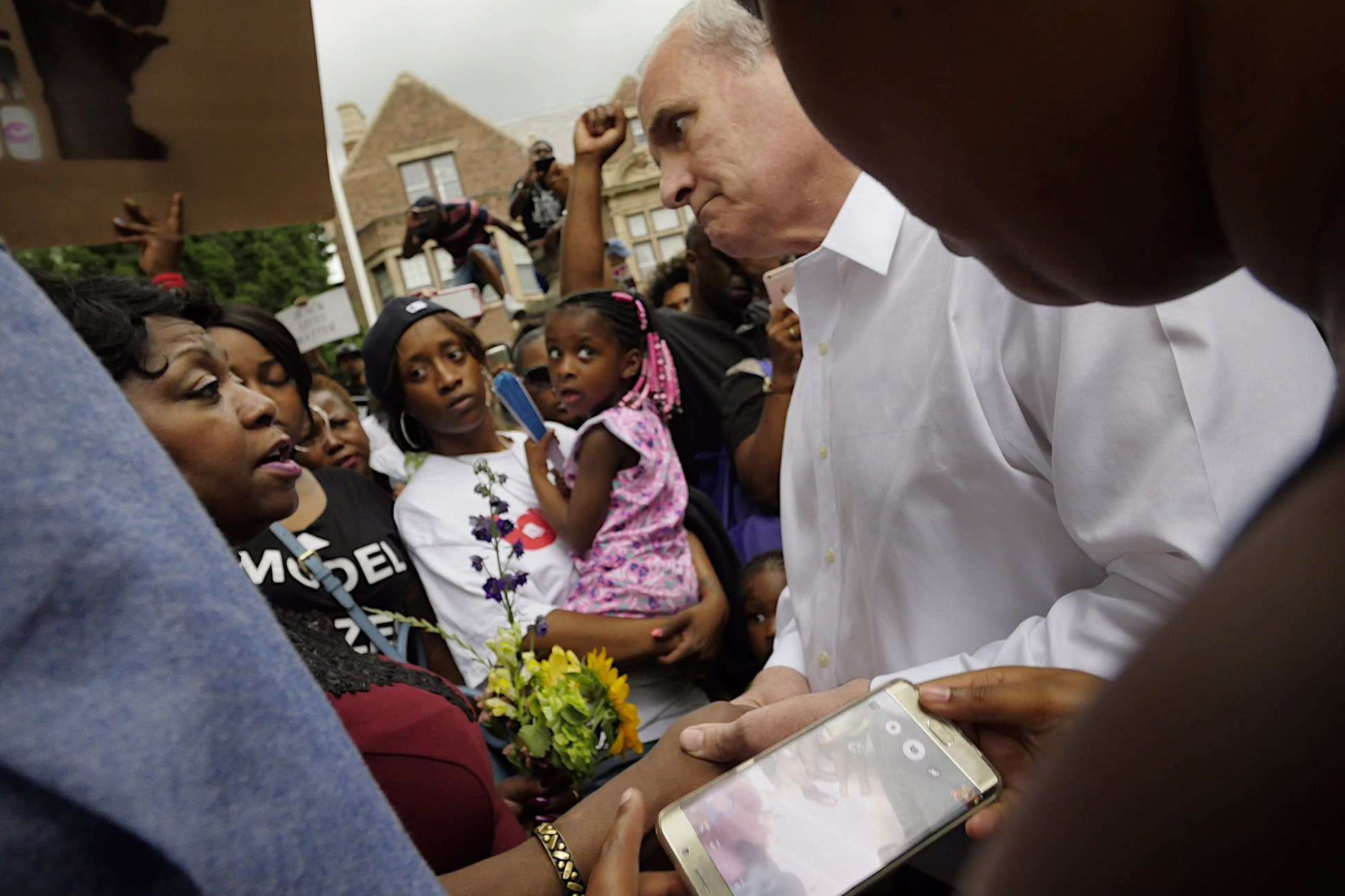Gov. Dayton, Valerie Castile and Diamond Reynolds