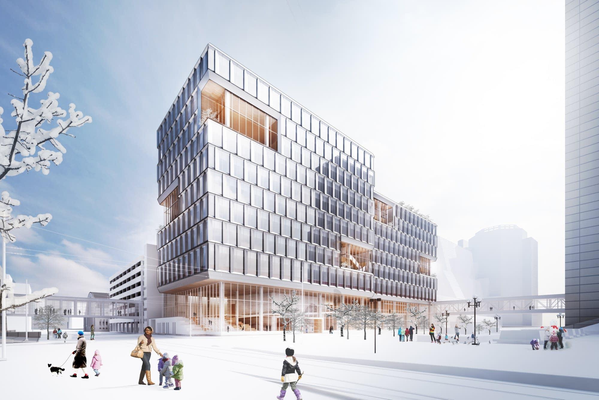 minneapolis unveils plans for a new municipal office building mpr news