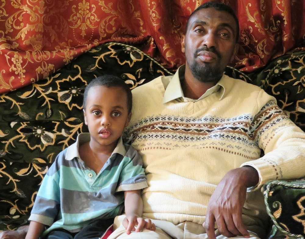 Adam Aded and his son Abdullahi Abdulkadir