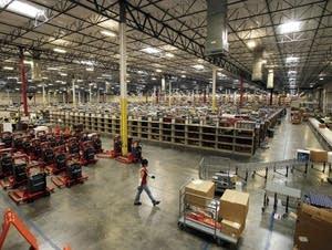 An Amazon.com distribution center