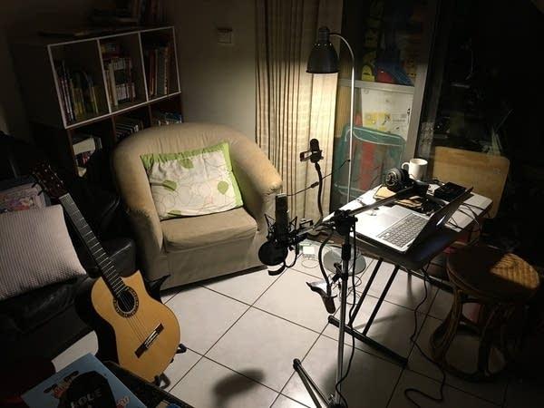 Home studio recording setup