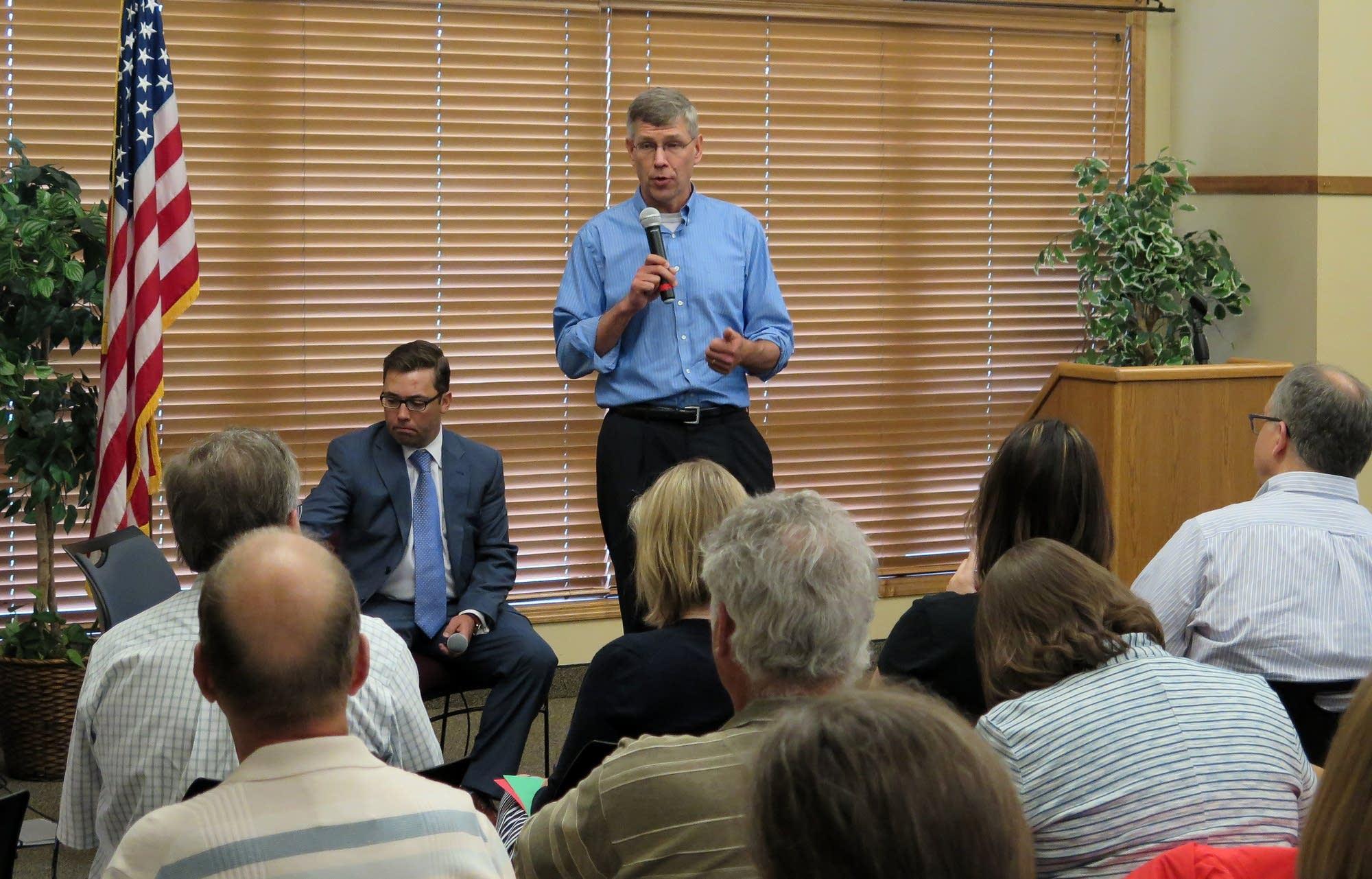 Third District Republican Congressman Erik Paulsen spoke at a town hall.