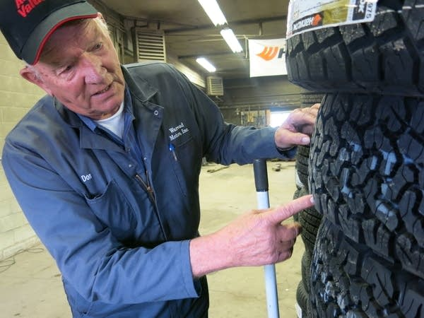 Warroad mechanic Donovan Olson