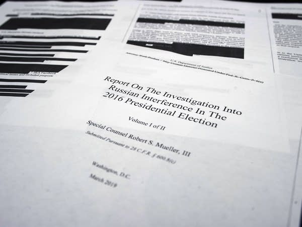 Four pages of special counsel Robert Mueller's report