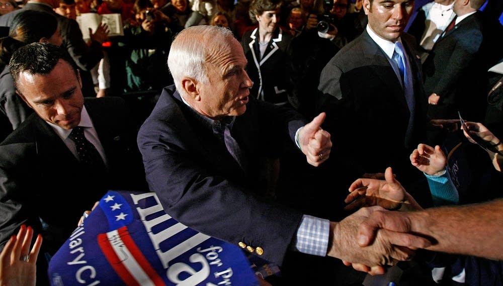 John McCain in Manchester, N.H.