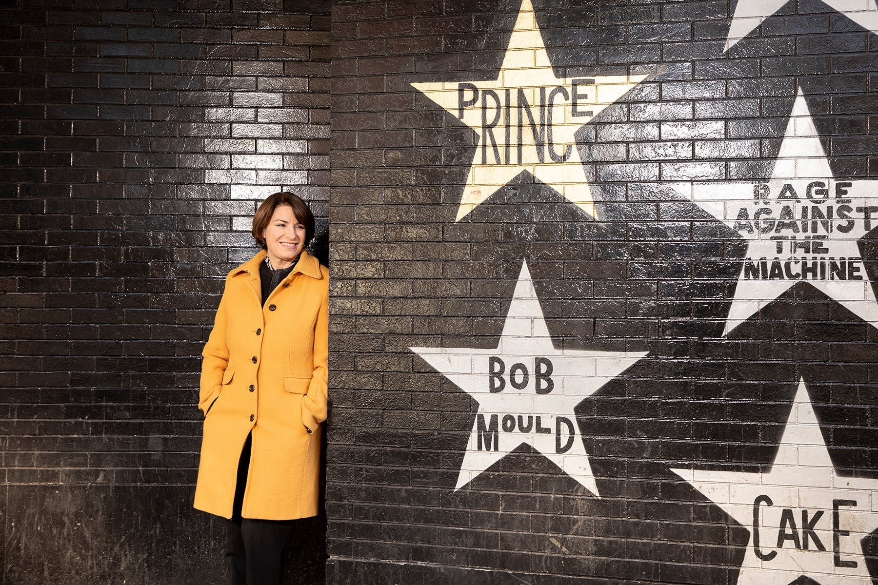 Senator Amy Klobuchar outside First Avenue