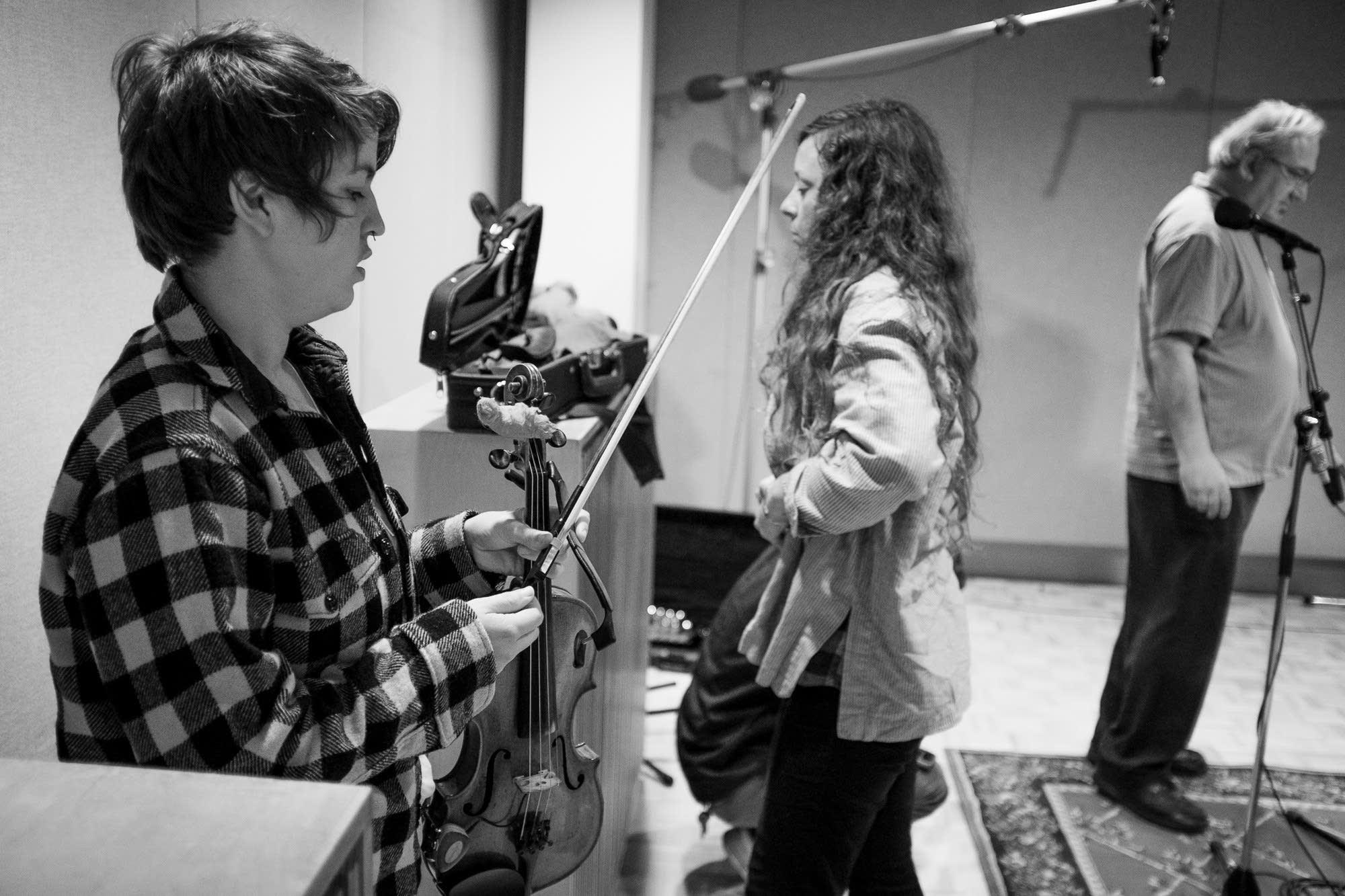 typhoon, violins