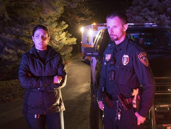 Social worker Megan Schueller and police officer Vedran Tomic