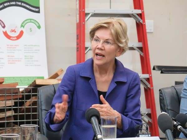 Elizabeth Warren talking