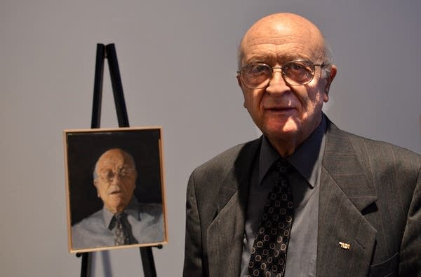 One of the portraits is of Victor Vital, 82.