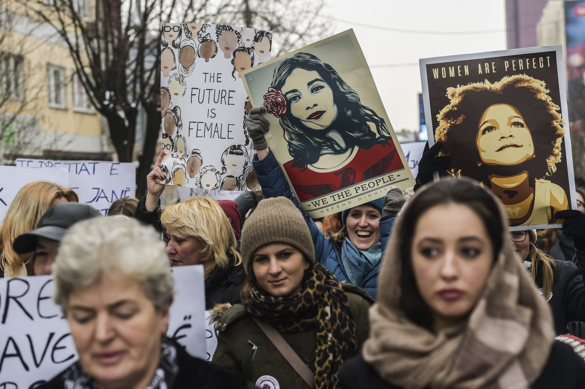 Pristina, Kosovo: Women for women's rights.