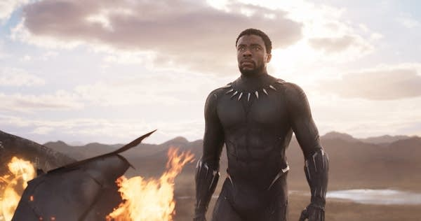 Chadwick Boseman in Marvel's Black Panther.